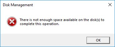 Not Enough Disk Space