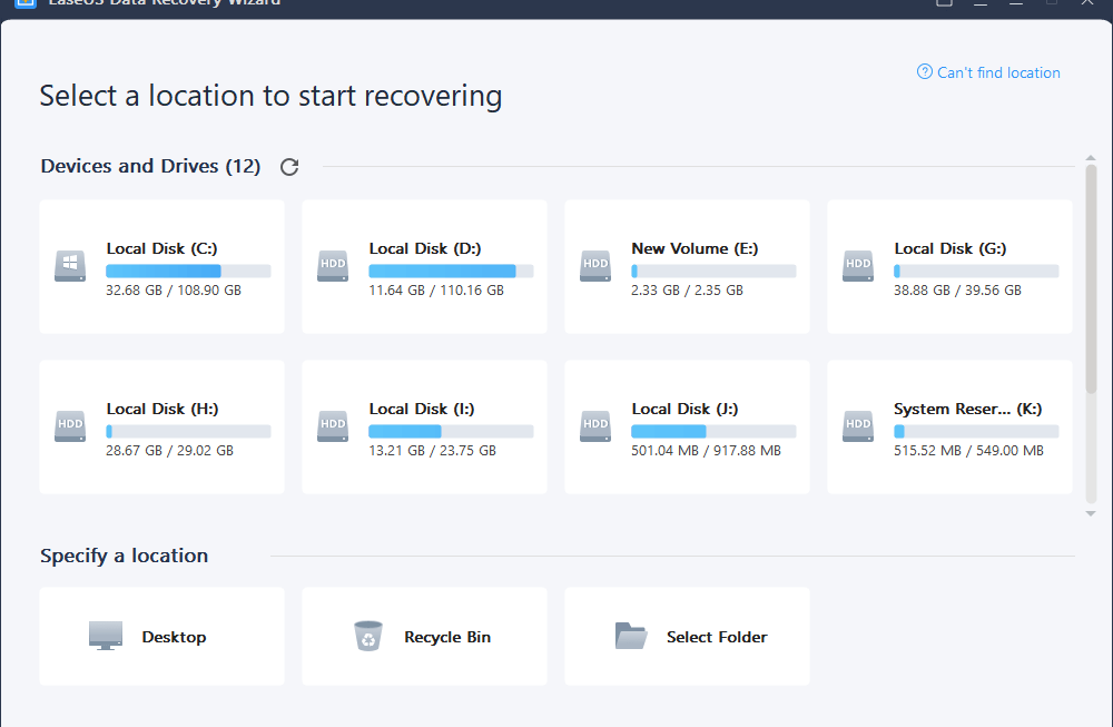 Best Free Data Recovery Software | EaseUS Data Recovery Wizard