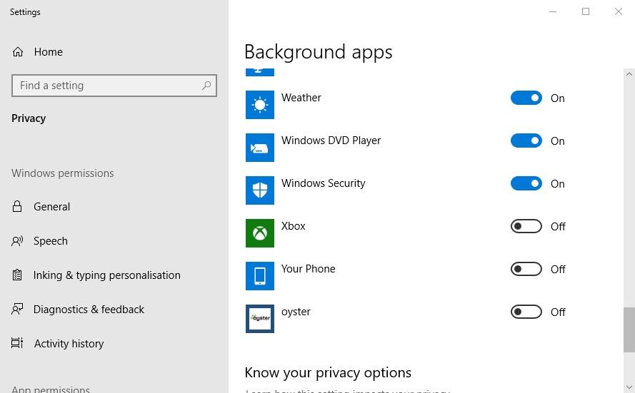 YourPhone.exe Windows 10 2